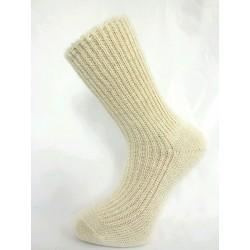 ponožka teplá zdravotní česaná krémová
