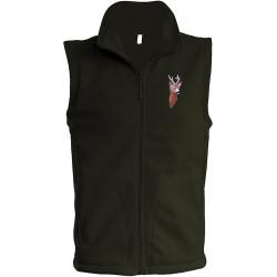 Vesta fleece pánská vyšívka srnec
