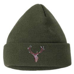 Čepice pletená jelen vyšívka