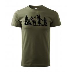 Tričko Jelen v lese
