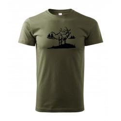 Tričko Jelen velký nadměrná velikost