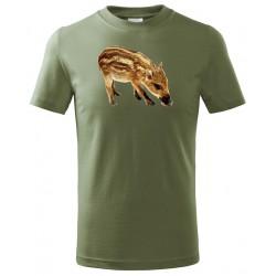 Tričko Sele barevné - khaki