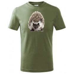 Tričko Ježek barevný - khaki
