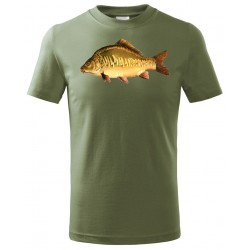 Tričko Kapr barevný - khaki