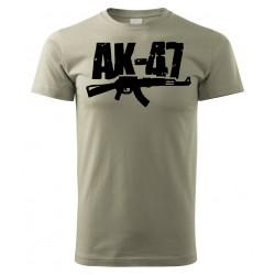 Tričko AK47 - khaki