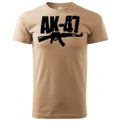 Tričko AK47 - béžová