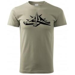 Tričko Náboje - khaki