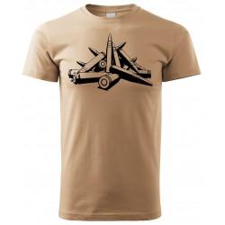 Tričko Náboje - béžová