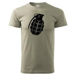 Tričko Granát - khaki