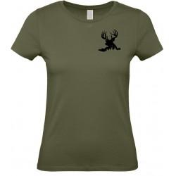 Tričko dámské Jelen v trávě