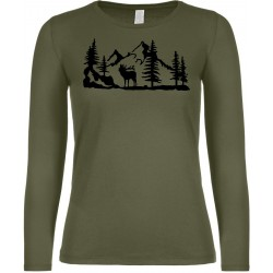 Tričko dámské Jelen v lese