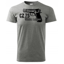 Tričko Revolver 9mm - šédá