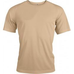 Funkční tričko pánské krémové