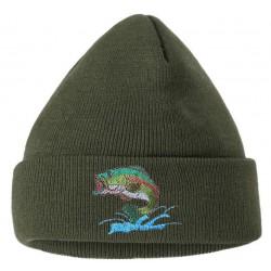 Čepice pletená Ryba vyšívka